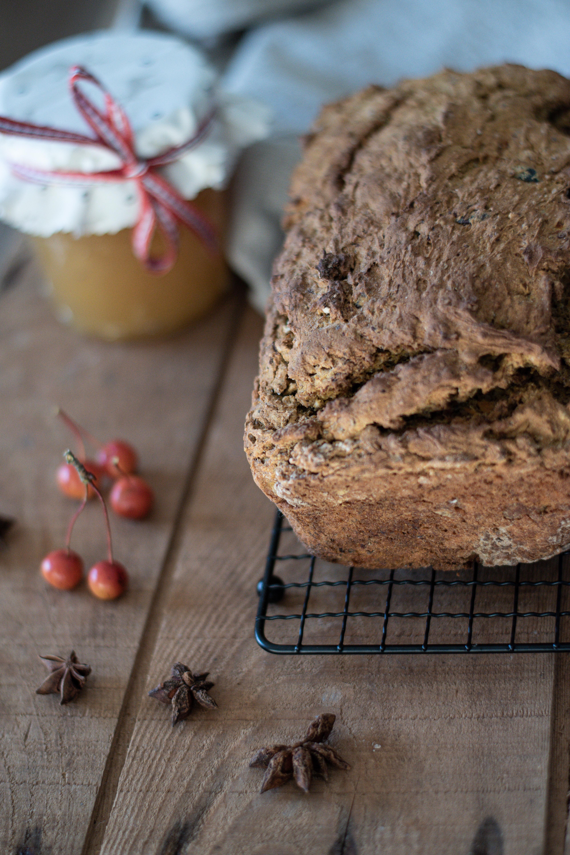 Kürbis-Haselnuss Soda Brot glutenfrei
